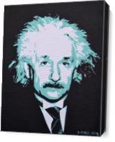 Albert Einstein As Canvas