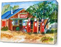 Frontier Gas Station As Canvas
