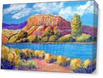 Ghost Ranch Canyon As Canvas