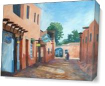 Taos Alley Cafe As Canvas