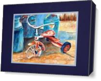 Old Tricycle As Canvas