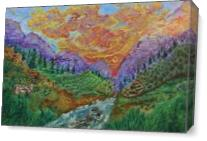 Alpic Landscape With A Deer As Canvas
