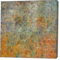 Blue And Copper Textures Abstract - Gallery Wrap