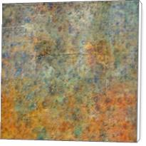 Blue And Copper Textures Abstract - Standard Wrap