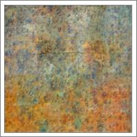 Blue And Copper Textures Abstract - No-Wrap