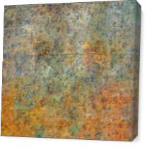 Blue And Copper Textures Abstract - Gallery Wrap Plus