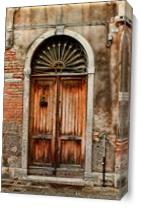 Door In Venice As Canvas
