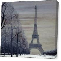 Paris In Winter As Canvas