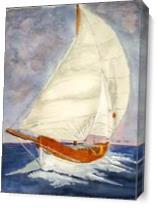 Sailing Boat As Canvas