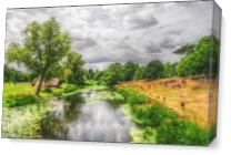 Fine Art Photograph Of The River Avon In Warwickshire, England As Canvas