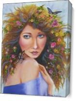 Goddess Of Spring As Canvas