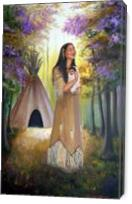Native American Mother And Child - Gallery Wrap