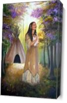 Native American Mother And Child - Gallery Wrap Plus