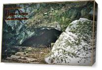 Hipple Cave Card As Canvas