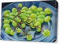 Grape Bunch As Canvas