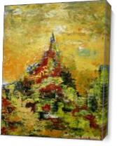 Mount Temple As Canvas