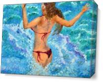 Hug The Waves As Canvas