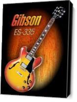 Wonderful Gibson ES-335 As Canvas
