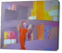 """Orange Angel"".2012. Oil On Canvas. Cm.40x50. - Gallery Wrap"