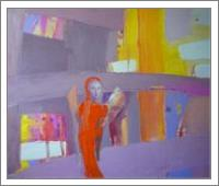 """Orange Angel"".2012. Oil On Canvas. Cm.40x50. - No-Wrap"