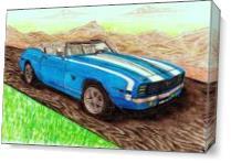 """1969' Convertible Camaro SS 396"""" Classic As Canvas"""