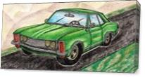 1963' Buick Riviera Classic Car As Canvas