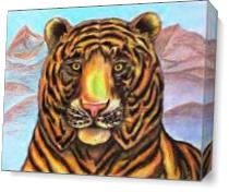Bengaled Tiger Original Drawing As Canvas