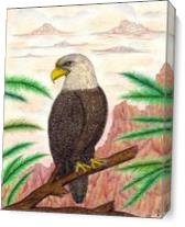 Eagle Of Freedom As Canvas