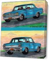 "Classic 62' Chevy Nova II 383"" Muscle Car Twin View Original As Canvas"