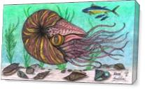The Legendary Nautilus Sea Creature As Canvas