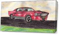 Shelby GT 500 Classic Muscle Car As Canvas