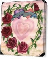 Someone Special  Twin Hearts and Roses As Canvas