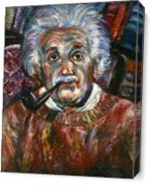 Albert Einstein As Canvas