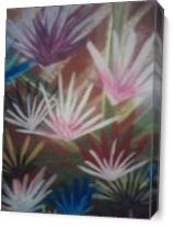 River Of Flowers As Canvas