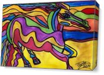 Running Horse As Canvas