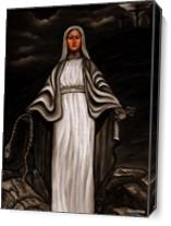 Black White Mary - Gallery Wrap Plus