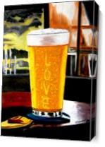 A Glass Of Cold Beer As Canvas
