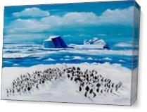 100 Penguins As Canvas