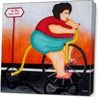 Big Cycle Lady As Canvas