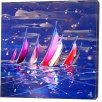Regatta In Blue 16626 - Gallery Wrap