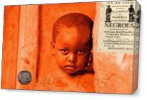 Born In Slavery As Canvas