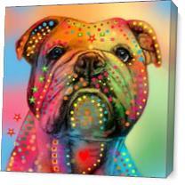 English Bulldog As Canvas