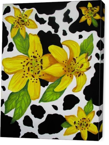 Floral Cow Print