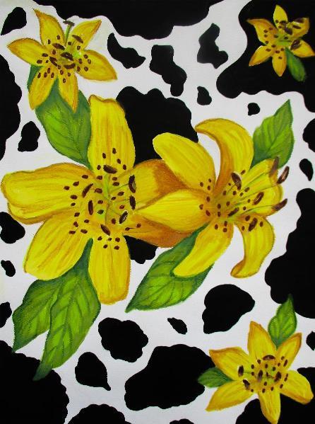floral-cow-print