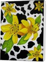 Floral Cow Print - Standard Wrap