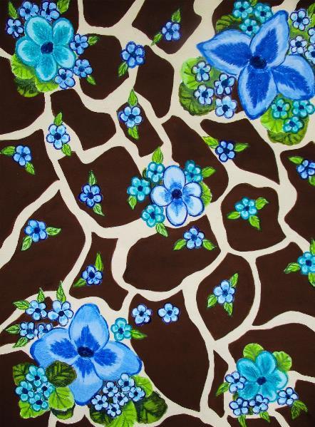 floral-giraffe-print