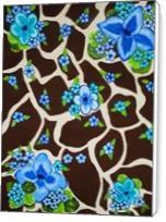 Floral Giraffe Print - Standard Wrap