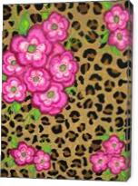 Floral Leopard Print - Gallery Wrap