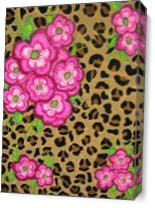 Floral Leopard Print As Canvas