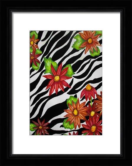Floral Zebra Print